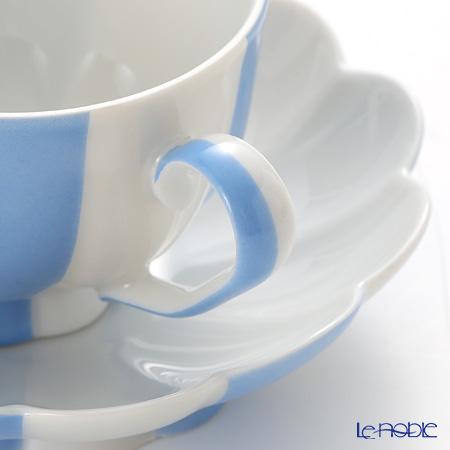 アウガルテン(AUGARTEN) メロン ライトブルー&ホワイト(7022)モカカップ&ソーサー 0.05L(015)