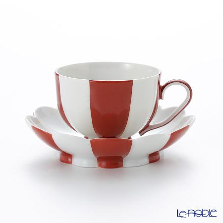 アウガルテン(AUGARTEN) メロン レッド&ホワイト(7023) モカカップ&ソーサー 0.05L(015)
