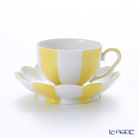 アウガルテン(AUGARTEN) メロン イエロー&ホワイト(7024)モカカップ&ソーサー 0.05L(015)