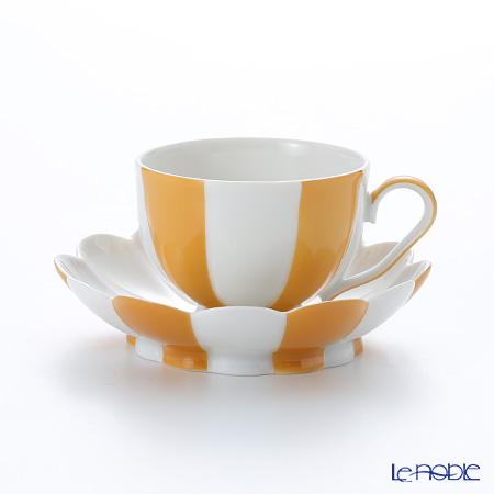 アウガルテン(AUGARTEN) メロン オレンジ&ホワイト(7026)モカカップ&ソーサー 0.05L(015)