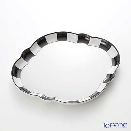 アウガルテン(AUGARTEN) メロン ブラック&ホワイト(7027)デジュネトレイ 36×32cm(050)