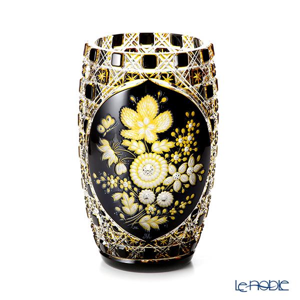 マイセン(Meissen) マイセンクリスタル Flowers1 D/LF22/26be 花瓶 3層被せ 26cm
