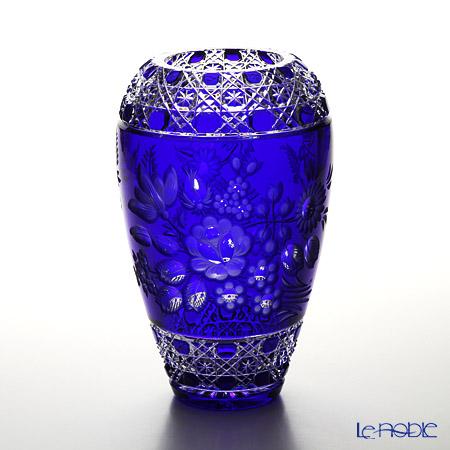 マイセン(Meissen) マイセンクリスタル 花瓶(ブルー) 26cm MFO/1378/26B