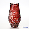 Meissen Crystal 'Chrysanthemum Flower' Red  80513/30R Vase H30cm