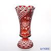 Meissen Crystal 'Flowers' Red F205/E0314/41R Pedestal Vase H41cm