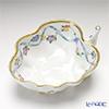 Herend 'Flower Garland with Ribbon' Blue FLR 02492-0-00 Sugar Bowl (Leaf shape) 10cm