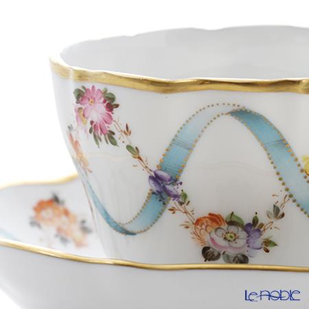 ヘレンド フラワーリボン 04099-0-00モカカップ&ソーサー