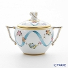 Herend 'Flower Garland with Ribbon' Blue FLR 20472-0-12 Covered Sugar Pot (Twisted knob) 200ml