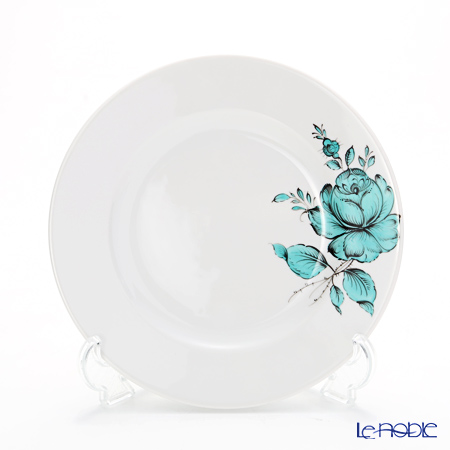 Augarten 'Maria Theresia 2.0' Turquoise Blue [Schubert shape] Plate 19cm