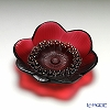 Lalique 'Anemone (Flower)' Rouge Red 10115300 Small Bowl 11cm