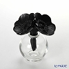 Lalique Two Anemones, Black Perfume Bottle Floral motif with 16 cm 10056700