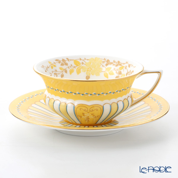 Wedgwood Harlequin Collection 'Yellow Ribbon' Tea Cup & Saucer