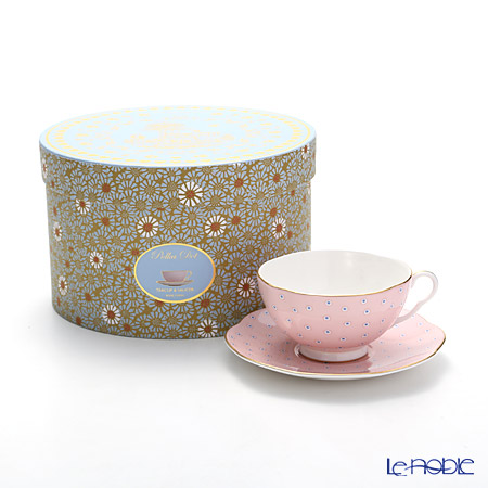 ウェッジウッド(Wedgwood) ハーレクィーンコレクション ティーカップ&ソーサー(ポルカドット ティーストーリー/ピンク)