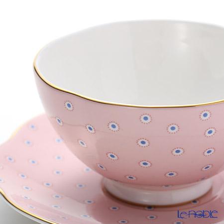 ウェッジウッド(Wedgwood) ポルカドット コレクションティーカップ&ソーサー ピンク