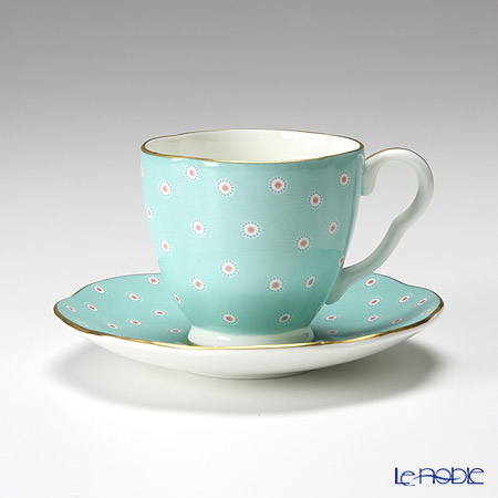 Wedgwood Polka Dot Tea Story Coffee Cup and Saucer Turquoise