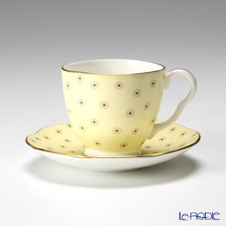 Wedgwood Polka Dot Tea Story Coffee Cup and Saucer Yellow