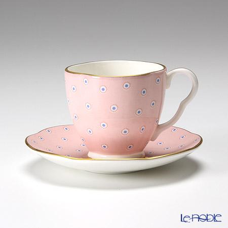 ウェッジウッド(Wedgwood) ハーレクィーンコレクション コーヒーカップ&ソーサー(ポルカドット ティーストーリー/ピンク)