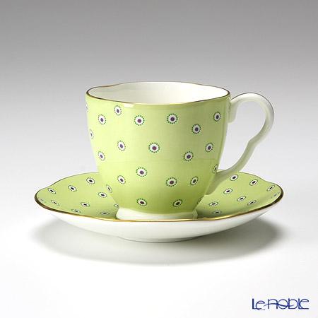 ウェッジウッド(Wedgwood) ハーレクィーンコレクションコーヒーカップ&ソーサー(ポルカドット ティーストーリー/グリーン)