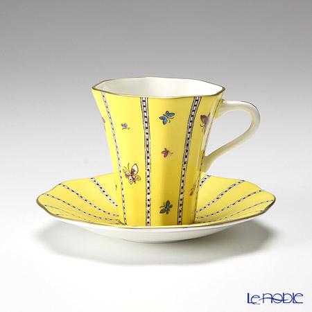 ウェッジウッド(Wedgwood) ハーレクィーンコレクションカップ&ソーサー(イエローバタフライ)