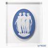 Wedgwood 'Prestige - Three Grace / Jasperware' Pale Blue Plaque with Glass 27.5xH33.5cm