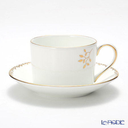 Wedgwood Vera Wang - Gilded Leaf Teacup & Saucer