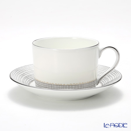 Wedgwood Vera Wang - Gilded Weave Platinum Teacup & Saucer