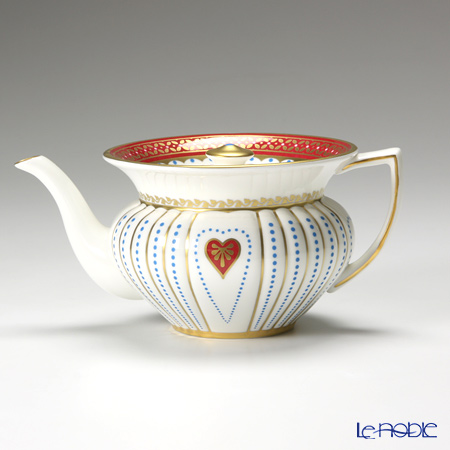 Wedgwood Harlequin Collection Queen Of Hearts Teapot