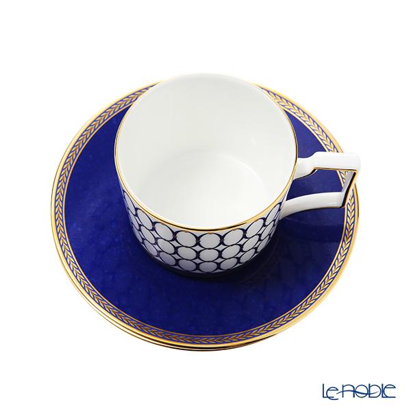 Wedgwood 'Renaissance Gold' Blue Tea cup & Saucer 250ml