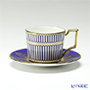 Wedgwood Anthemion Blue Espresso Cup & Saucer 70ml