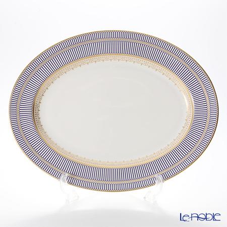 ウェッジウッド(Wedgwood) アンセミオンブルー 盛皿 オーバル 39cm