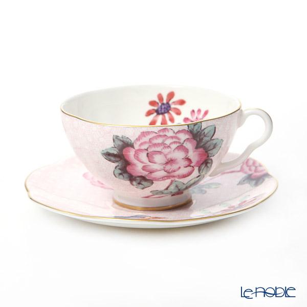 ウェッジウッド(Wedgwood) カッコー(ハーレクィーンコレクション) ティーカップ&ソーサー 180cc ピンク