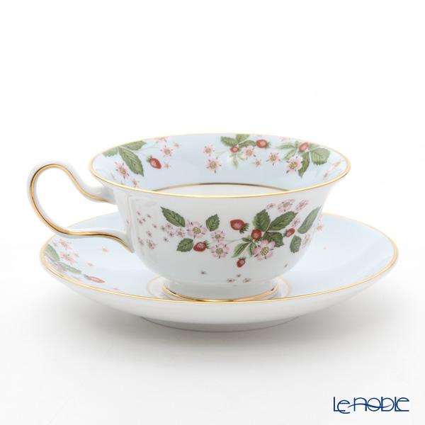 ウェッジウッド(Wedgwood) ワイルドストロベリー ブルームティーカップ&ソーサー(ピオニー) ブルー
