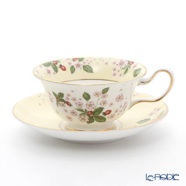 ウェッジウッド(Wedgwood) ワイルドストロベリー ブルームティーカップ&ソーサー(ピオニー) イエロー