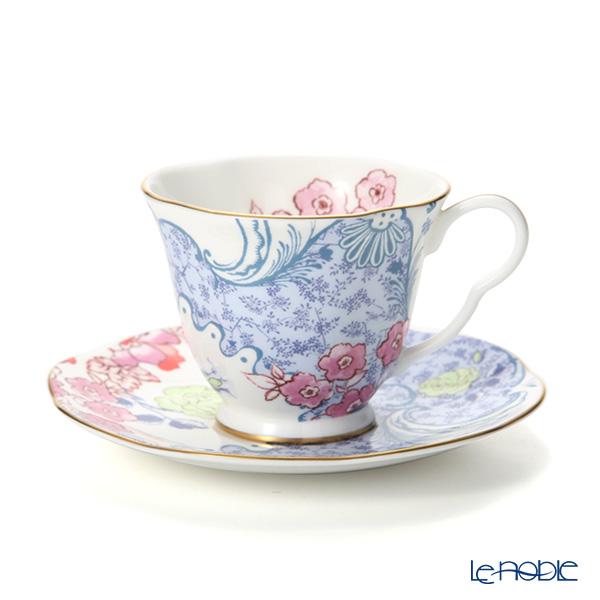 ウェッジウッド(Wedgwood) バタフライブルーム ティーカップ&ソーサー ブルー/ピンク