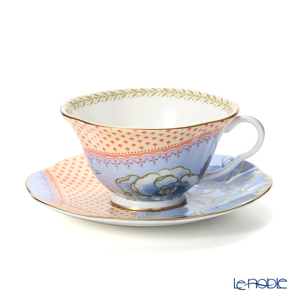 Wedgwood 'Butterfly Bloom' Blue Tea Cup & Saucer 250ml