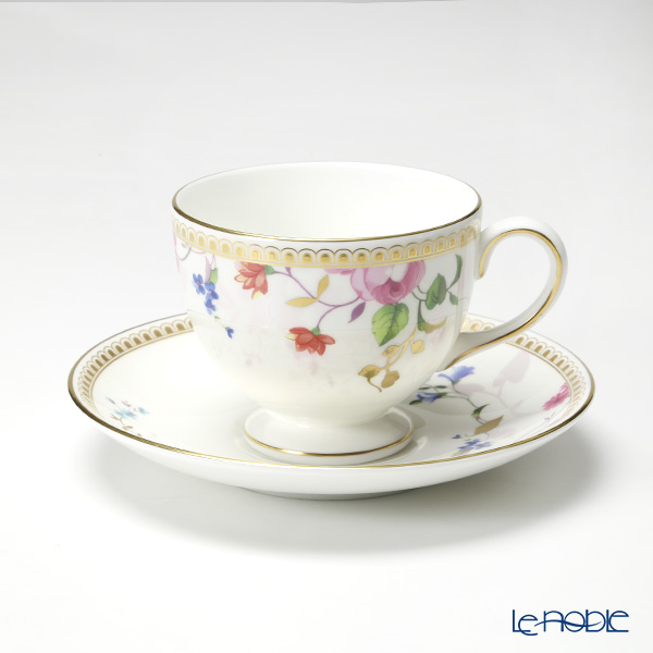Wedgwood Rose Gold Leigh Tea Cup & Saucer 150ml