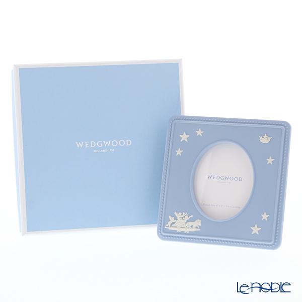 ウェッジウッド(Wedgwood) ジャスパー ペールブルー プリンスピクチャーフレームクラウン 15×15cm