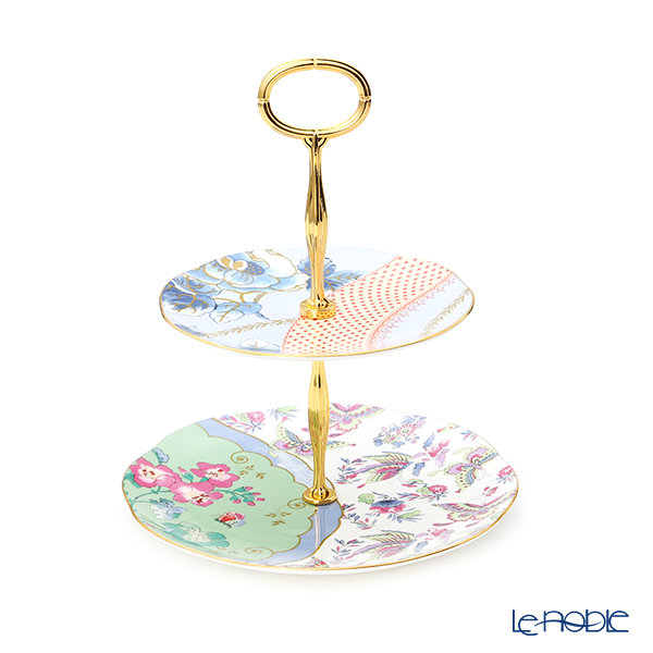 Wedgwood 'Butterfly Bloom' 2-Tier Cake Stand H24.5cm