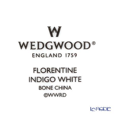 ウェッジウッド(Wedgwood) フロレンティーン インディゴホワイトシュガーボックス(ティー) S 8cm
