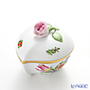 Herend 'Pintemps / Bunch of Tulip (Flower Bouquet)' BT 06005-0-09 Heart Box (Rose knob) 8xH6cm