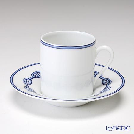 エルメス(HERMES) シェーヌ ダンクル ブルー コーヒーカップ&ソーサー 90ml