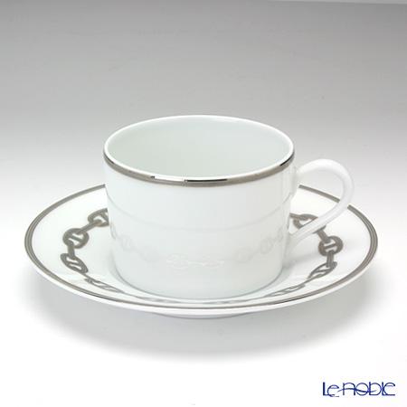エルメス(HERMES) シェーヌ ダンクル プラチナティーカップ&ソーサー 150ml