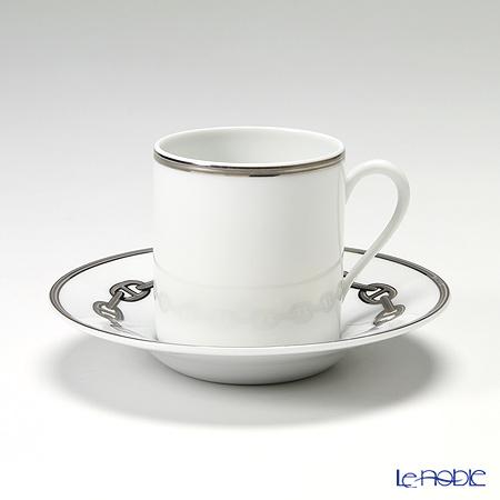 エルメス(HERMES) シェーヌ ダンクル プラチナコーヒーカップ&ソーサー 90ml
