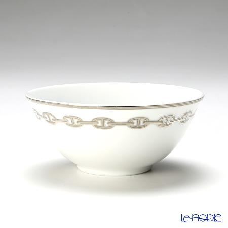 Hermes Chaîne d'Ancre Rice bowl, platinum, 6.44 fl.oz.