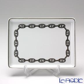 Hermes Chaîne d'Ancre Sushi plate, platinum, 6.3