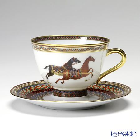 エルメス(HERMES) シュヴァルドリアン ティーカップ&ソーサー 230ml No.1 ソーサー赤
