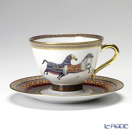 エルメス(HERMES) シュヴァルドリアンティーカップ&ソーサー 230ml No.2 ソーサー赤