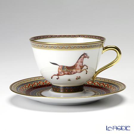 エルメス(HERMES) シュヴァルドリアンティーカップ&ソーサー 230ml No.3 ソーサー赤