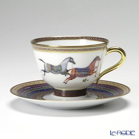 エルメス(HERMES) シュヴァルドリアン ティーカップ&ソーサー 230ml No.4 ソーサー青