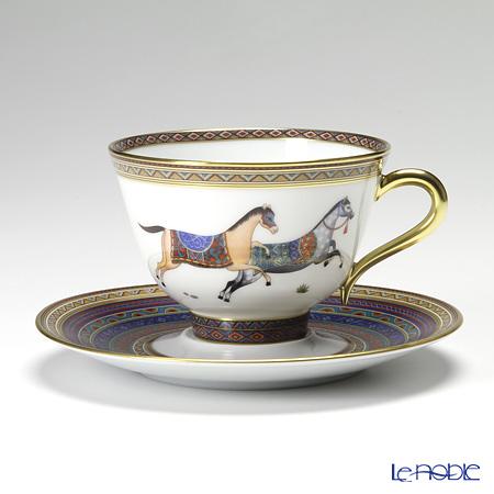 エルメス(HERMES) シュヴァルドリアンティーカップ&ソーサー 230ml No.5 ソーサー青